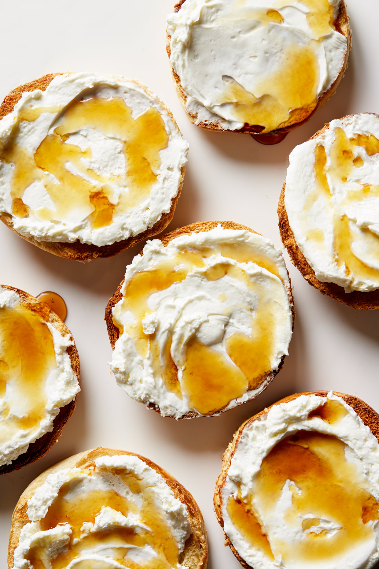 Bagels with cream cheese by Food and Product Photographer