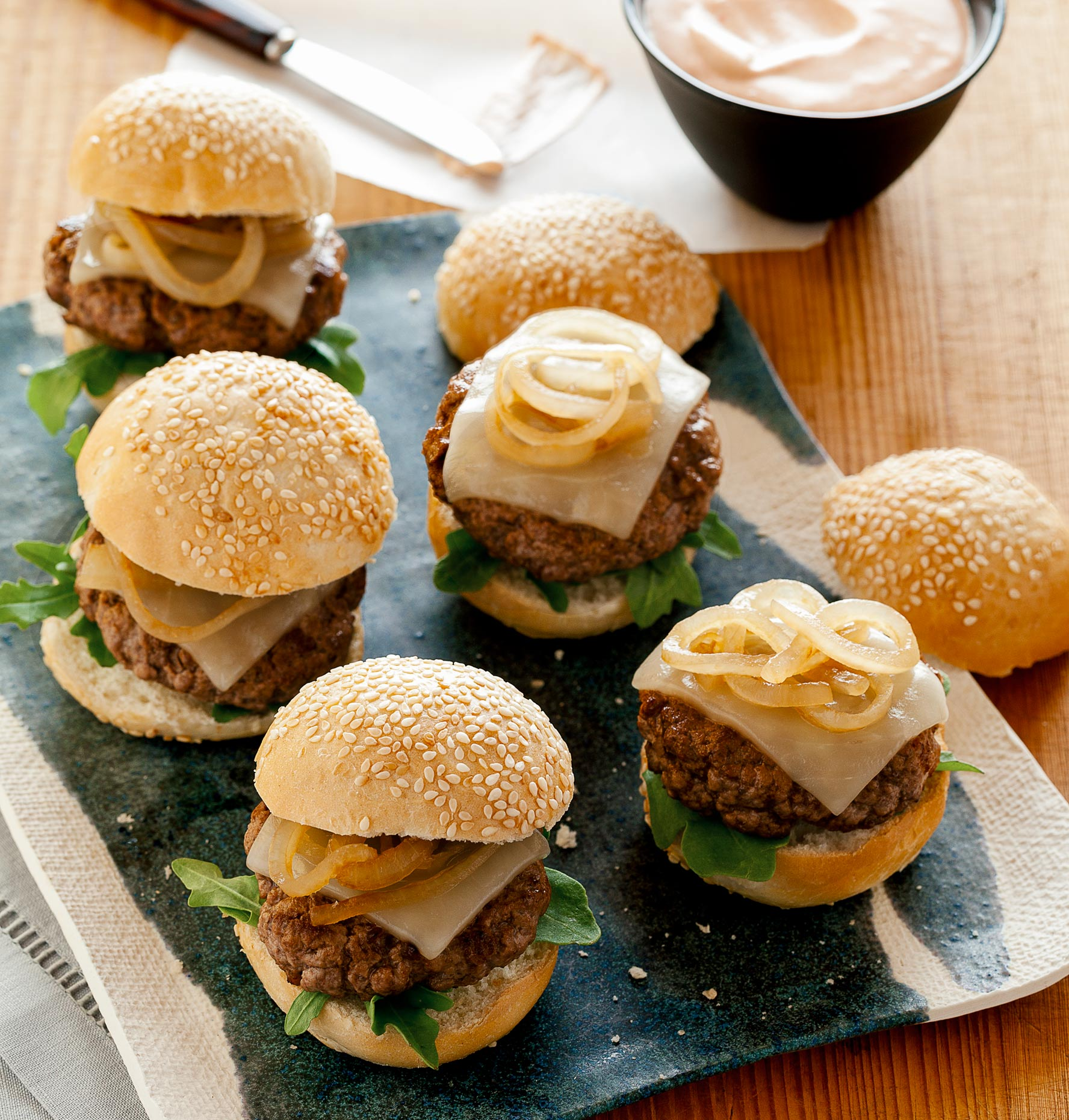 Sliders and burger photography by LA Food Photographer Teri Lyn Fisher