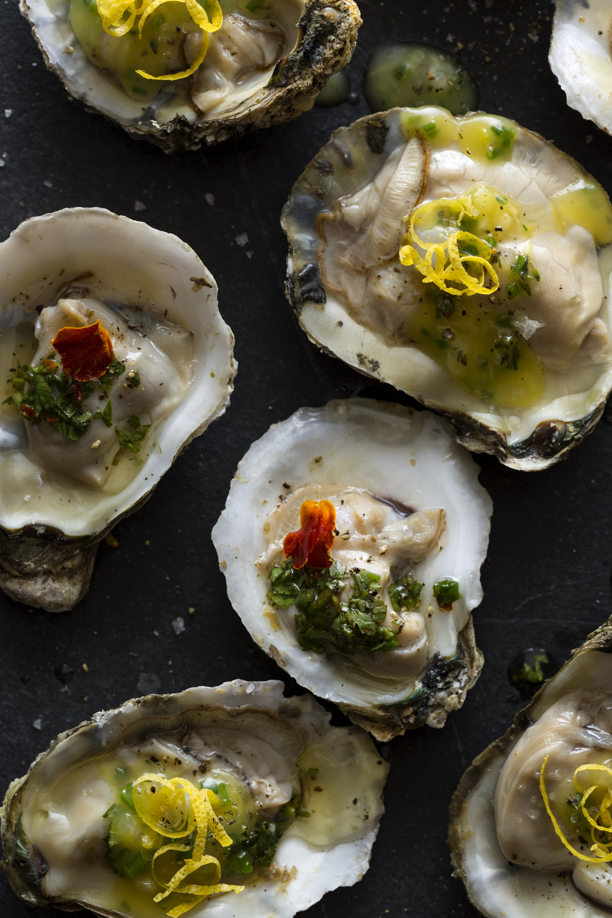 Oysters by Food Photographer Los Angeles, CA