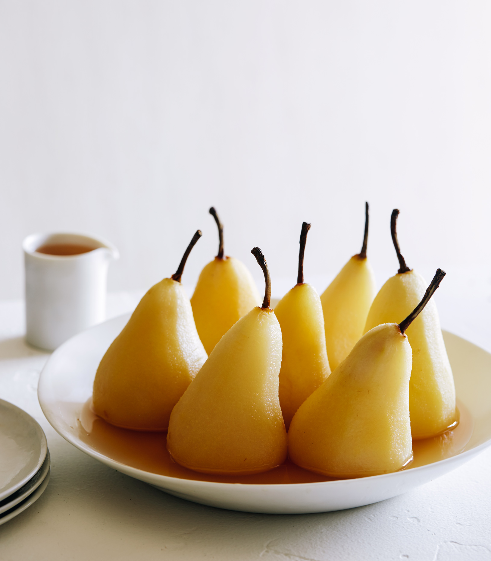Poached Pears - by LA Food Photographer