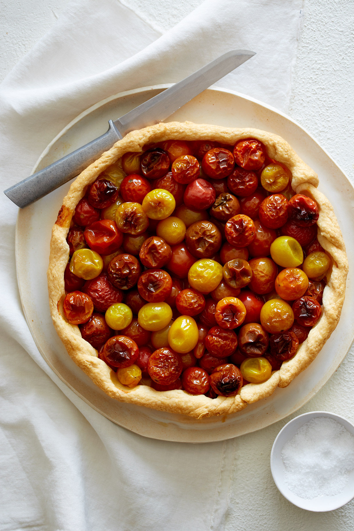 Tomato Tart by a food photographer in Los Angeles
