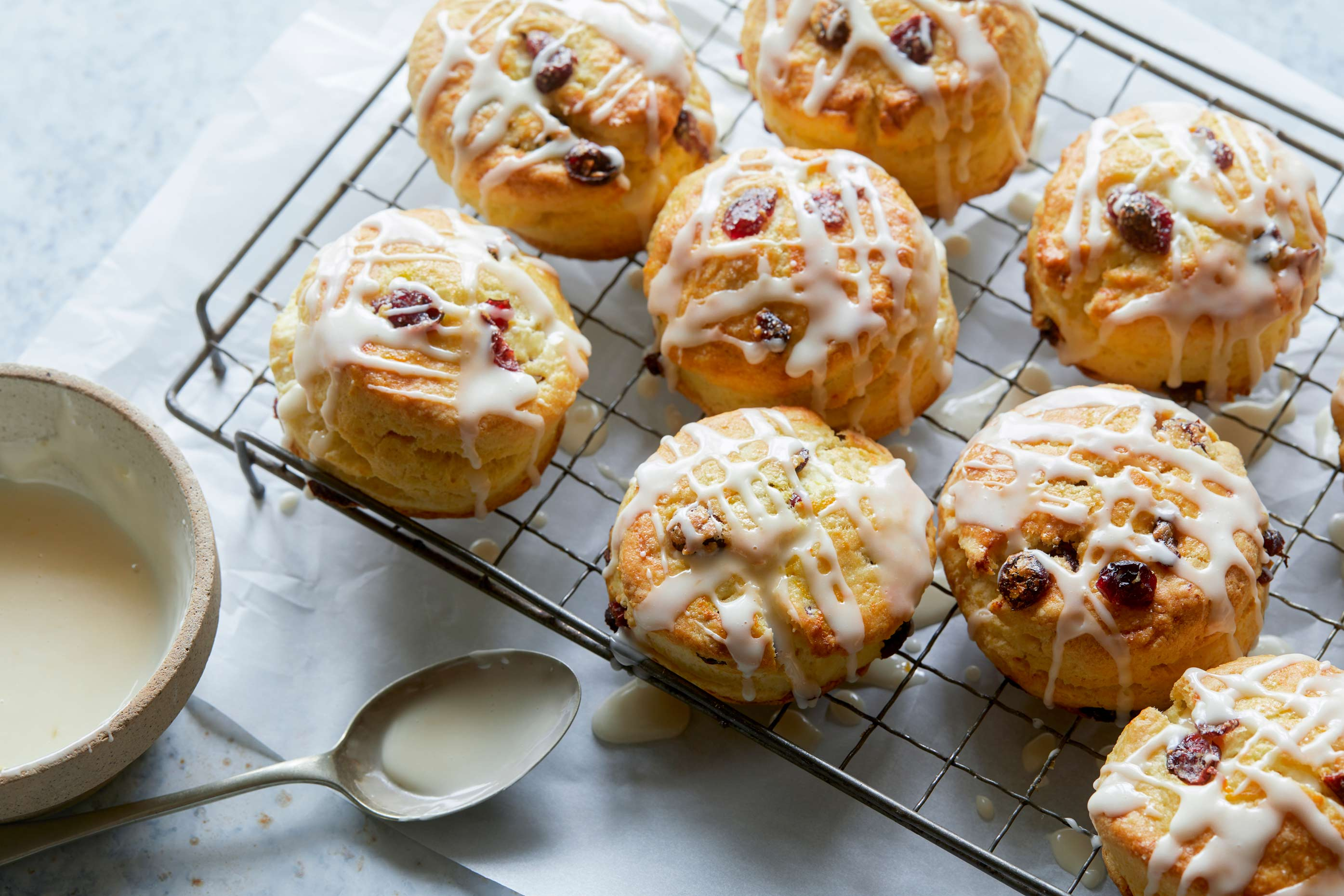 Fresh scones by a Los Angeles Food Photographer